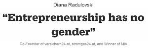 """Entrepreneurship has no gender"""